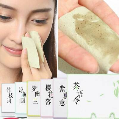 50x Tissue Papers Makeup Cleansing Oil Absorbing Face Paper Facial R7J2 Cle S8S2