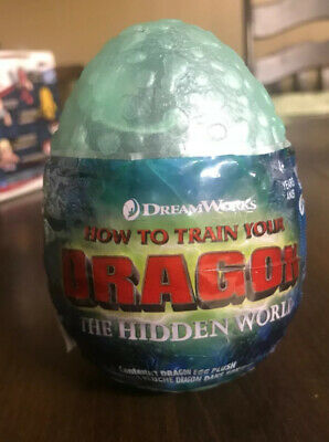 How To Train Your Dragon Hidden World Baby Night Light Plush Green Eyes Teal Egg
