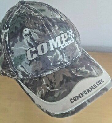 COMP Cams Camo-Style Camo Brown/Green Ball Cap NWOT One Size