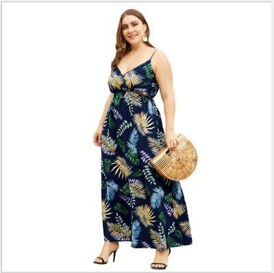 Dress Fashion Beach Casual Summer Party A-Line Maxi  Sundress Floral Print Women