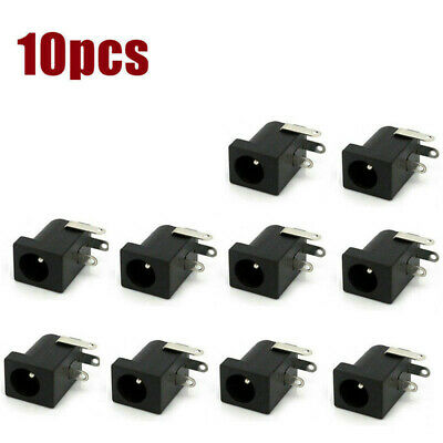 Size M Female Panel-Mount Coaxial DC Power Jack 5.5mm x 2.1mm