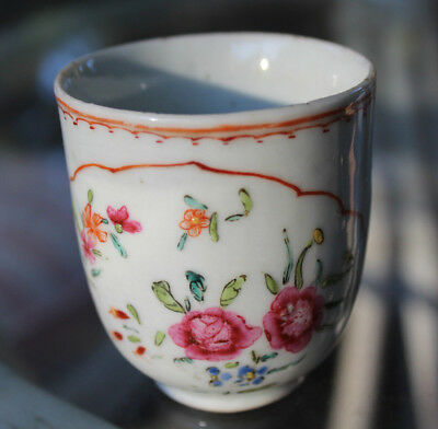 18Th Century Antique Chinese Export Porcelain Handled Tea Cup European Market