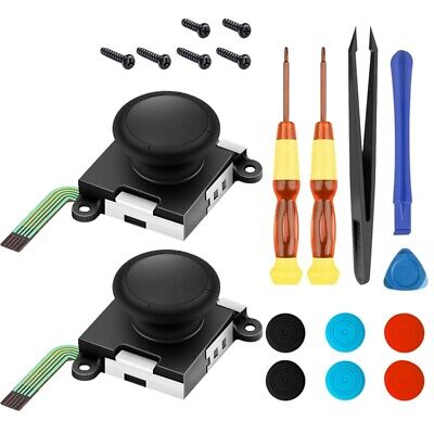 1X(Two Pack Analog 3D Joy Con Joystick Replacement for Nintendo Switch, Lef1V5)