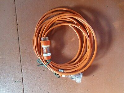 3 Phase Ext Cable  5 pin 32 amp 6mm2  10m lead plug socket