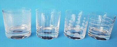 """Mikasa """"Cheers"""" Clear Double Old Fashioned Glasses, Set Of 4 New With Tags"""