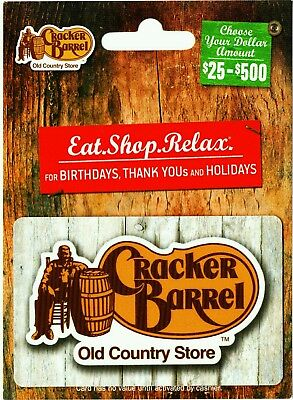 $25 Cracker Barrel Gift Card