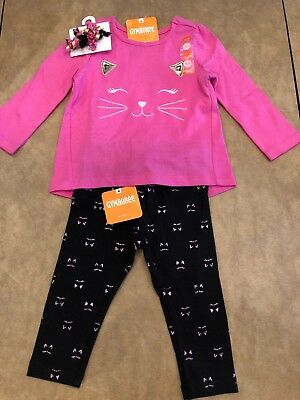 NWT Gymboree baby girl pink 3-piece kitty cat curlies WINTER set 2 2T