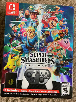 Super Smash Bros. Ultimate (Nintendo Switch, 2018) LIMITED EDITION BUNDLE