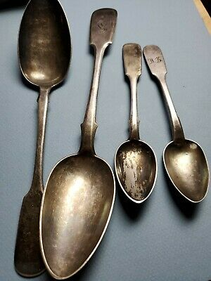 Imperial Russian Sterling Silver 84  2 Large Serving  Spoon and 2 lot 152 grams