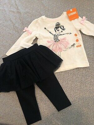 NWT Gymboree baby girl WINTER pink gold tulle ballet 2-piece SET 6 9 12 month