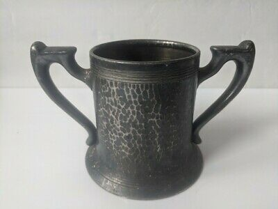 Guarantee Plate 832 Hand Hammered Unique Cup Double Handle