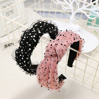 Boho Ladies Lace Tie Headband Hairband Knot Wide Alice Hair Band Accessories