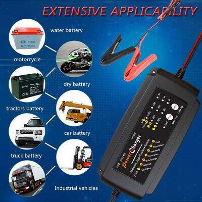Intelligent 12V 8A Motorcycle Motorbike Battery Charger Automatic Smart Trickle