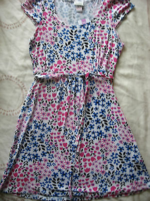 New Girls Clothes Kylie Cerise Pink White Blue Black Floral Dress Age 10 Years