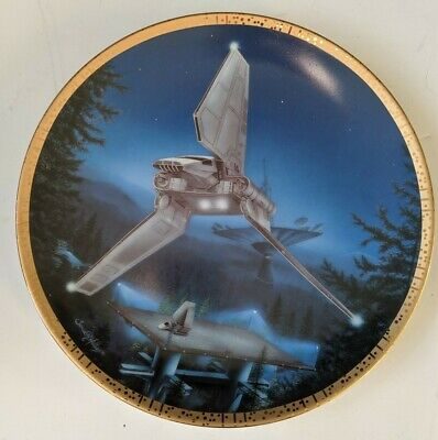 Star Wars Hamilton Space Vehicles Ltd Plate Collection Imperial Shuttle Mint COA