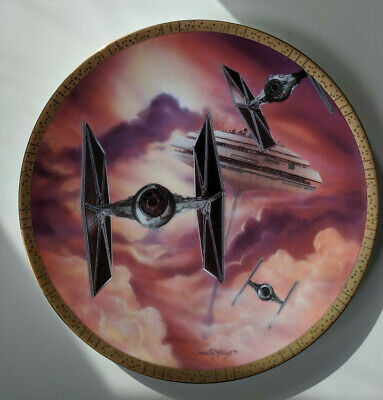 Star Wars Hamilton Space Vehicles Ltd Plate Collection TIE Fighters Mint COA