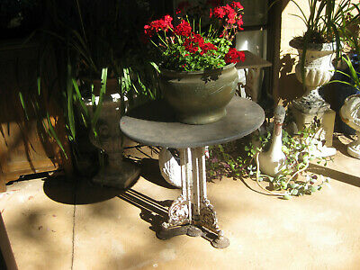 antique cast ion coalbrookdale table