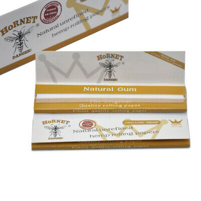 HORNET Organic Unrefined 110MM White Cigarette Rolling Papers King Size 5 Packs