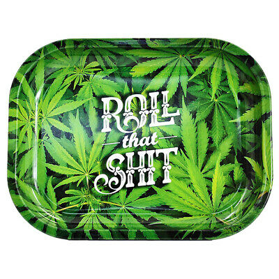 "1X ""Leaves"" Design Metal Hand Rolling Trays 18cm*14cm Tobacco Smoke Accessories"