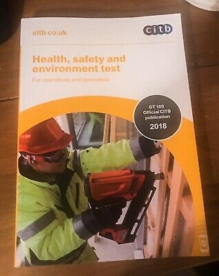 CSCS Card Test Book Health and Safety for Operatives and Specialists 2018/19 100