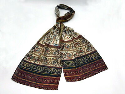 GLAMOROUS MIDDLE EASTERN STYLE LADIES FESTIVE DEEP RED//GOLD CHIFFON SCARF UW10