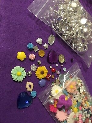 Over 100  Adjustable Ring Base Blanks and Tops. Jewellery Findings.