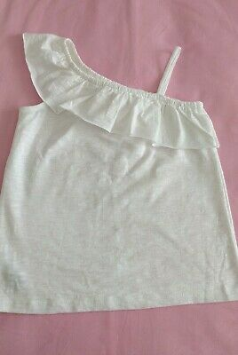 Girls White Summer Top Age 8 Years. NEXT. Excellent Used Condition.