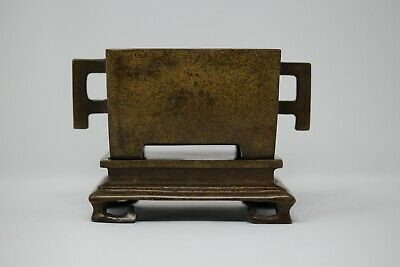 Chinese Bronze Censer On Stand Unusual Style Rare