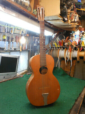 "Vintage 1940's Slot Head "" JUPITOR""  Parlor Guitar  wood body / restore REPAIR"