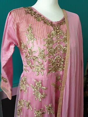 Ladies Pakistani Indian Anarkali Wedding Party Dress