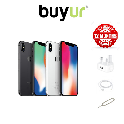 Apple iPhone X -  64/256GB Unlocked SIM Free Smartphone All Colours All Grades
