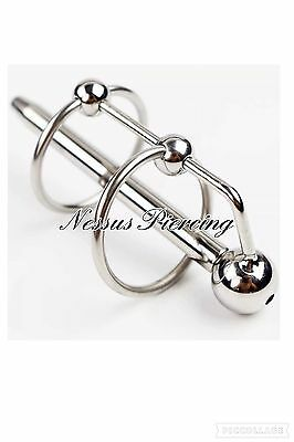 gland ring Prince Albert wand urethral sound piercing hollow end sound play toy