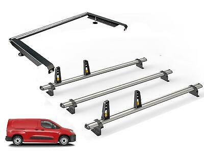 01-12 Van Guard ULTI System 3 Bar Roof Rack and 4 Load Stops for Vauxhall Combo