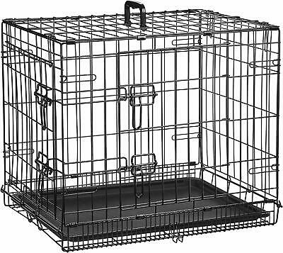James & Steel Black Folding Dog Crate Large Dogs Birds And Other Pets