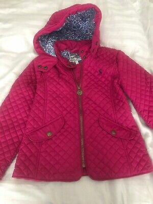 Girls Pink Joules Coat Age 7 Years