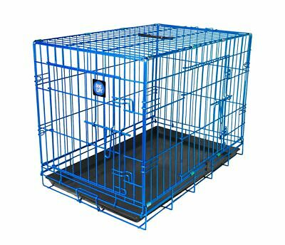 Dog Life Folding Dog Crate Dogs Birds And Other Pets Blue