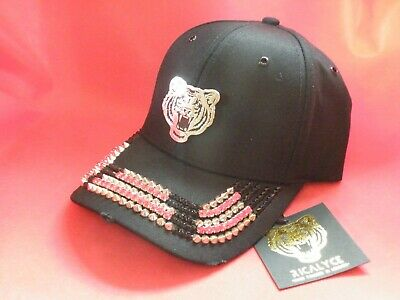 Ricalyce The Masterpiece Baseball Cap / Hat Black With Swarovski Crystals Bnwt