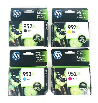 4-PACK HP GENUINE 952XL Black & Color Ink (SEALED BOXES) FAST SHIPPING 5/2020+