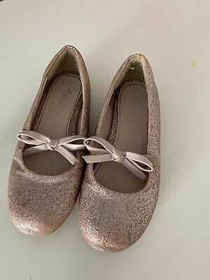Girls Next Pink Glitter Sparkle Shoes Size 11