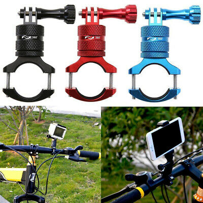 Aluminium Alloy Bicycle Motorcycle Handlebar Mount Holder Clamp for GOPRO Camera
