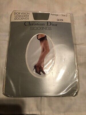 Vintage Christian  Design Stockings One Size Silver