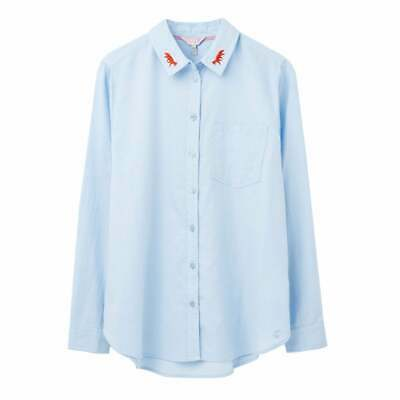 Women's Joules Lorena Embroidered Longline Woven Shirt