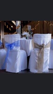 Wedding Linen Chair Covers for Weddings & Parties 60 In Total ( Round Toped)
