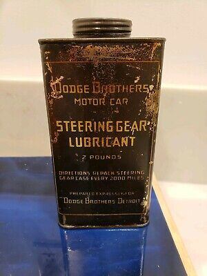 Extremely Rare Vtg. Dodge Brothers Motor Car Steering Gear Lubricant 2 Lb. Can