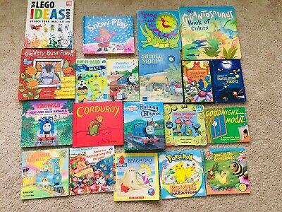 Lot 20 Children's Reading Bedtime-Story Time Kids BOOKS LEgo Hardcover Softcover