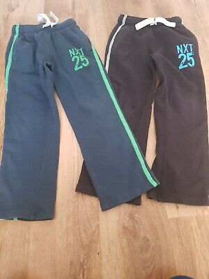 2 x Boys NEXT Tracksuit Bottoms Trousers Jogging Bottoms 8 years Black Blue