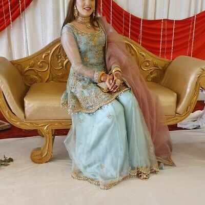 Indian Pakistani wedding dress sharara