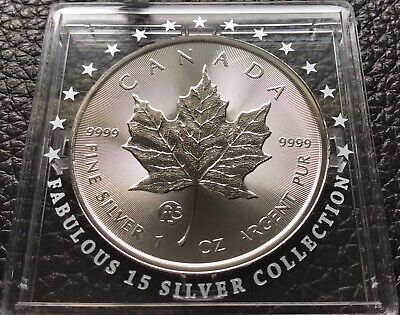 2018 $5 1oz. Fabulous F15 Maple Leaf Silver Coin Privy Mark Shipping FREE