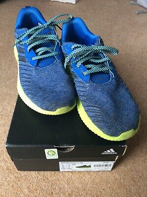 Adidas boys blue alphabounce rc xj trainers size 5 used in original box