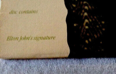 Elton John Signature on a Limited Edition Promotional LP (very rare).read list.